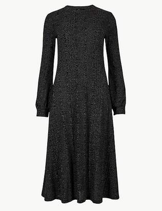 Marks and Spencer Jersey Long Sleeve Swing Midi Dress