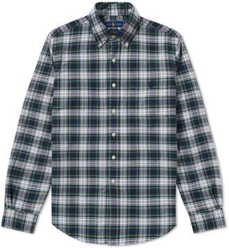 Polo Ralph Lauren Slim Fit Button Down Check Oxford Shirt