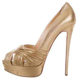 Christian Louboutin Metallic Platform Pumps