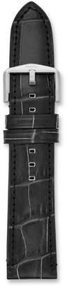Fossil 22mm Black Croco Leather Watch Strap