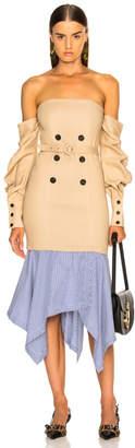 Jonathan Simkhai Tailored Off the Shoulder Corset Dress