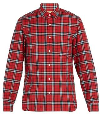 Burberry Vintage Check Cotton Shirt - Mens - Red