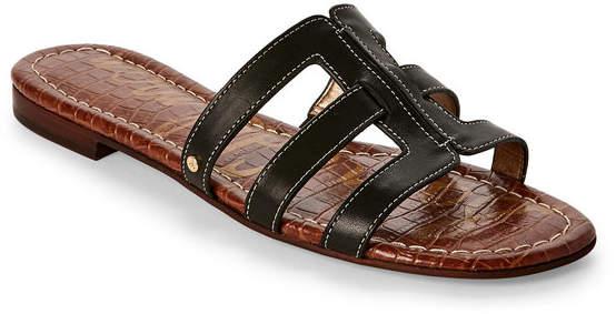 sam edelman Black Berit Flat Slide Sandals