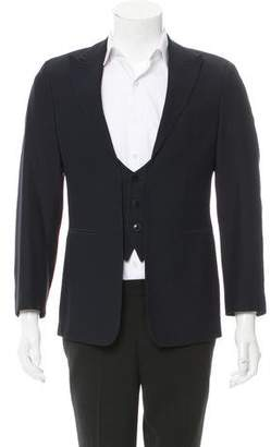 Emporio Armani Polka Dot Three-Button Blazer