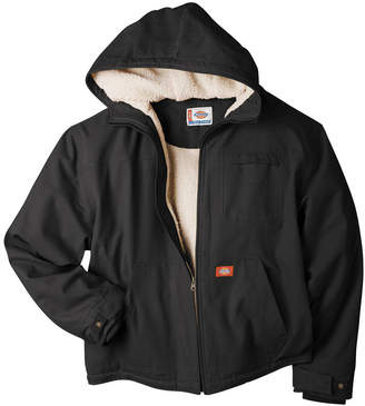 Dickies Sanded Duck Sherpa-Lined Hooded Work Jacket