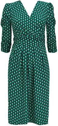 WallisWallis **Jolie Moi Green Print Dress