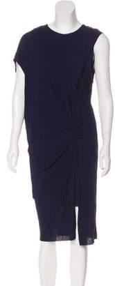 Helmut Lang Draped One-Shoulder Dress
