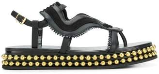 Chloé almond toe studded sole sandals