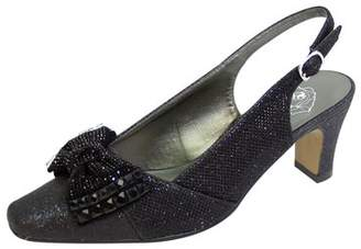 95197615ad0 at Walmart · FLORAL Floral Women s Megan Extra Wide Width Glitter Bow  Slingback