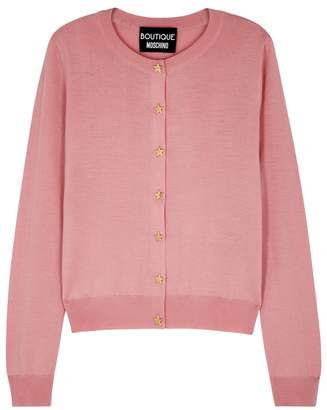 Moschino Pink Wool Cardigan