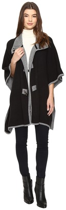 Christin Michaels Armelle Poncho with Buttons $104 thestylecure.com