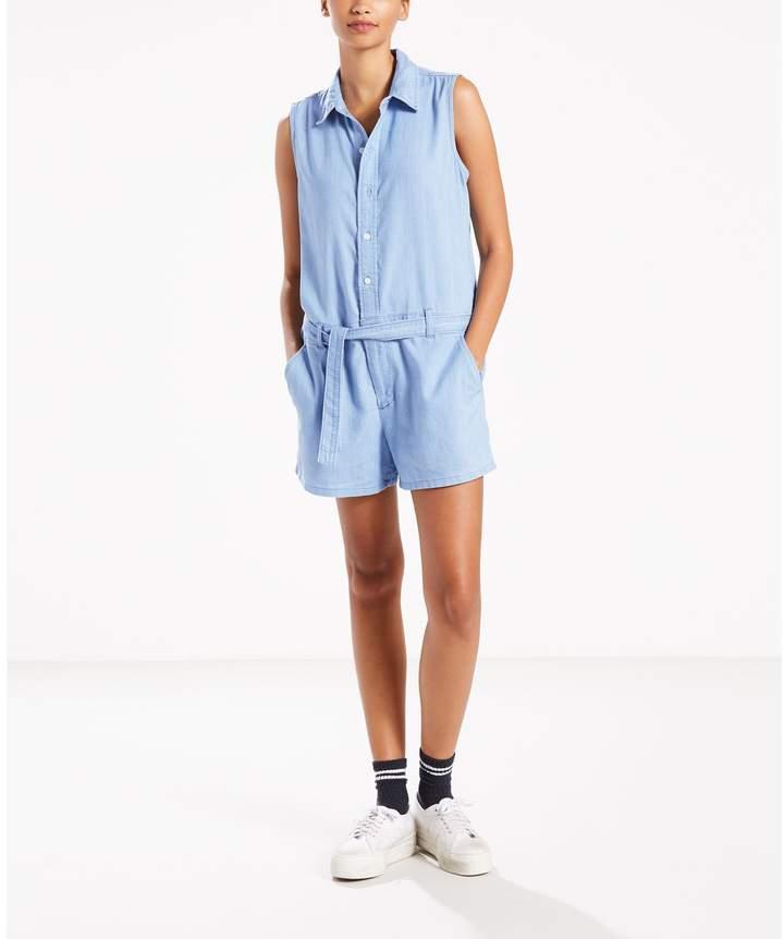 Molly romper – Kombi-Shorts – himmelblau