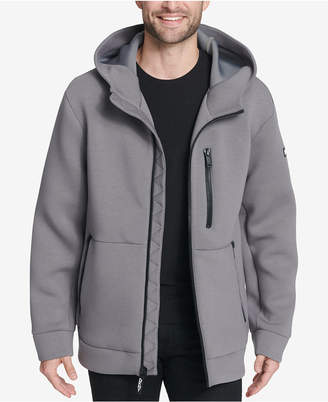 DKNY Men's Full-Zip Hooded Scuba Jacket