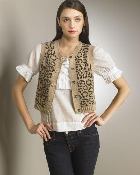 See by Chloe Leopard-Print Vest