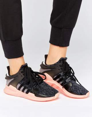 adidas Black EQT Support Trainers