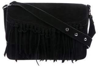 Rebecca Minkoff Suede Fringe Flap Shoulder Bag