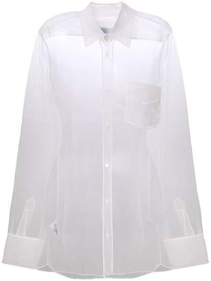 Viktor & Rolf sheer long-sleeve blouse
