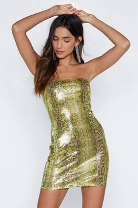 Nasty Gal Rare Breed Sequin Snake Dress