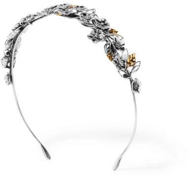 Bottega VenetaBottega Veneta - Burnished Silver And Gold-tone Headband - one size