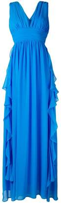 MSGM frill plunge gown