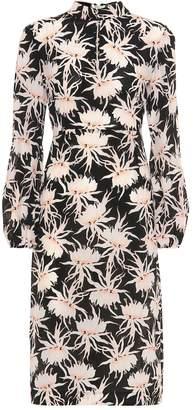 Rochas Parure floral silk midi dress