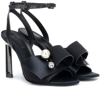 Mercedes Castillo Keria embellished satin sandals