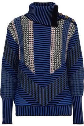 Peter Pilotto Crochet-knit Cotton-blend Turtleneck Sweater