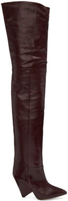 Isabel Marant Burgundy Lostynn Over-the-Knee Boots