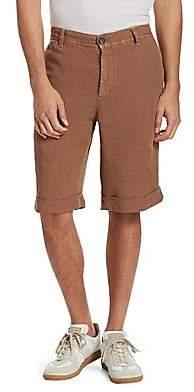 Brunello Cucinelli Men's Linen Shorts
