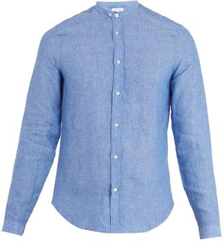 Boglioli Mandarin-collar single-cuff linen shirt