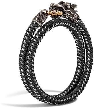 John Hardy Men's Naga Double Wrap Dragon Cord Bracelet