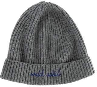 Maison Labiche Rib Knit Merino Wool Beanie