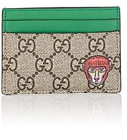 Gucci Men's Coated Canvas Card Case - Brown