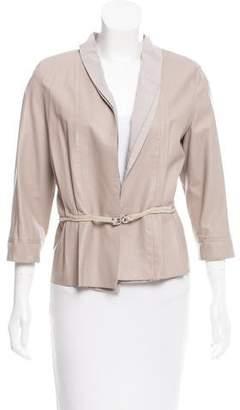 Fabiana Filippi Layered Leather Jacket