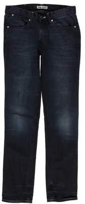 Acne Studios Mid-Rise Straight Leg Jeans