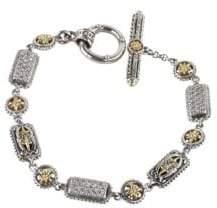 Konstantino Asteri White Diamond, Crystal and Sterling Silver Bracelet