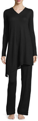 Neiman Marcus Cashmere Collection Cashmere Hooded Sweater & Pant Lounge Set $425 thestylecure.com