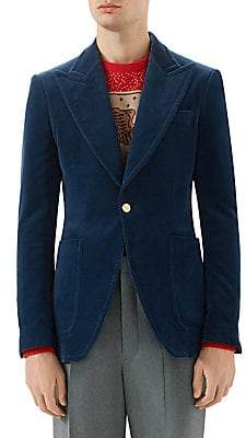 Gucci Men's Velvet Formal Blazer