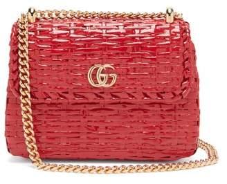 46ba810a599 Gucci Cestino Woven Wicker Cross Body Bag - Womens - Red