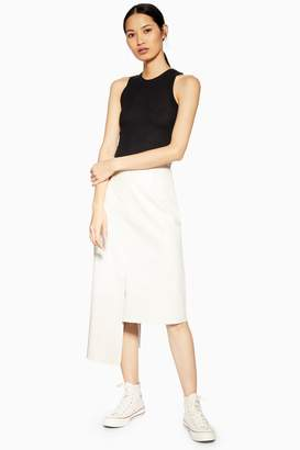 2a96b0095f Topshop Leather Step Hem Skirt by Boutique