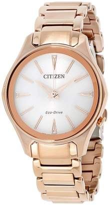 Citizen Modena M0593-56A Rose Gold Tone Stainless Steel 36mm Quart Women Watch