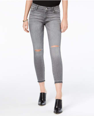 Kristen Ripped Mid-Rise Cropped Skinny Jeans with Cut-Off Hem, Created for Macy's
