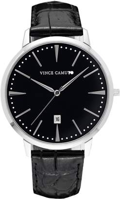 Vince Camuto Croc Embossed-leather Watch