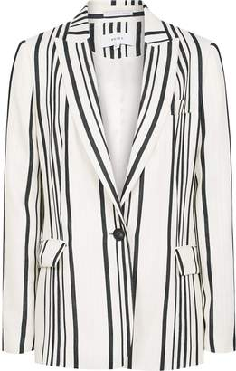 Reiss Rodeo Jacket - Tailored Blazer in White/black
