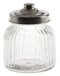 La Porcellana Bianca Tuscania Ribbed Glass Container