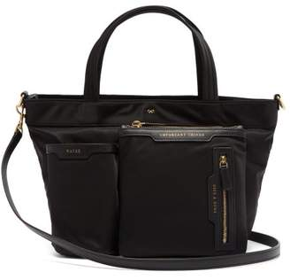 Anya Hindmarch Leather Trim Tote Bag - Womens - Black