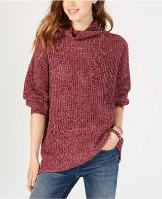 American Rag Juniors' Balloon-Sleeved Turtleneck Sweater