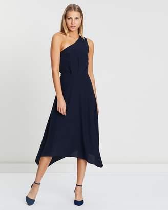 SABA Jo Silk One Shoulder Dress