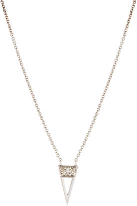 Sydney Evan 14k Diamond Triangle Pendant Necklace