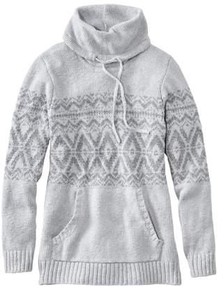 L.L. Bean L.L.Bean Women's Cotton Ragg Sweater, Cowl Pullover Fair Isle